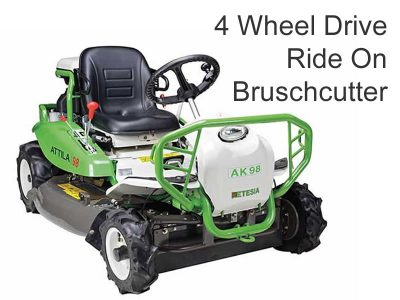 Etesia Attila 4 Wheel Drive Ride On Bruschcutter