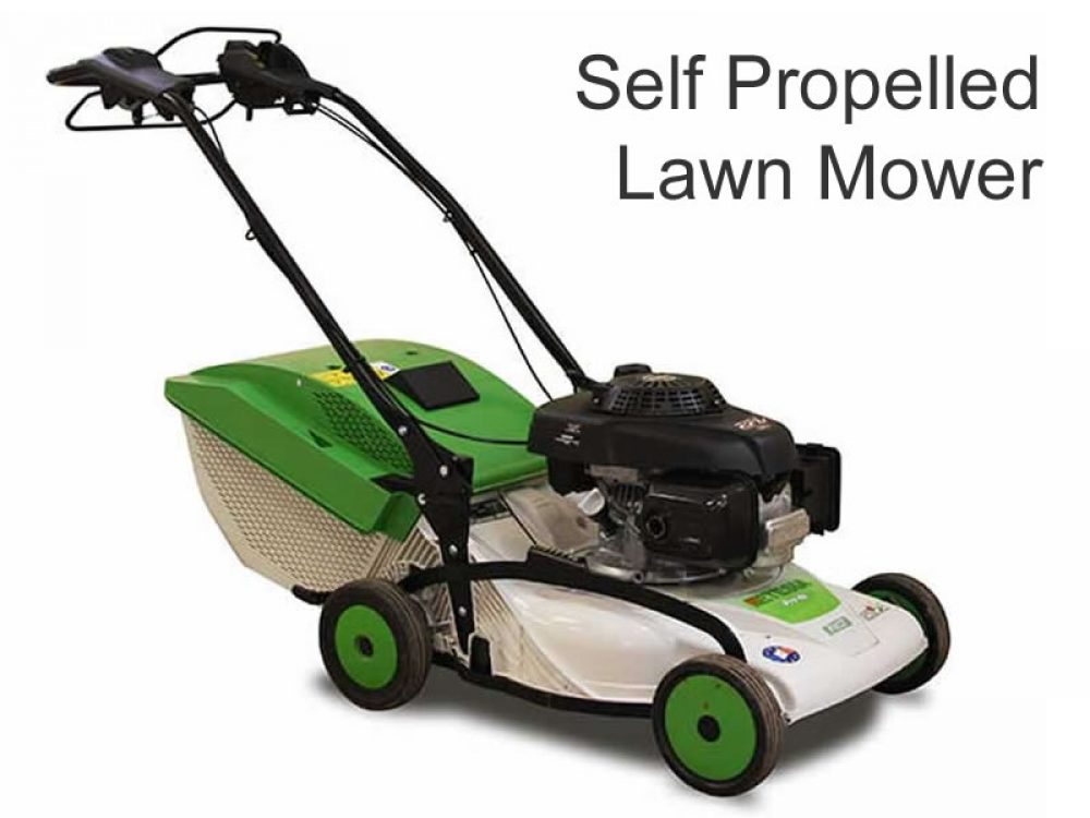 Etesia Pedestrian self propelled lawn mower